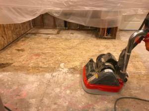 Orange County Pet Odor Removal Service Eliminating Odor in Subfloor Damaged with Dog Urine Odor In a House Located in Orange County
